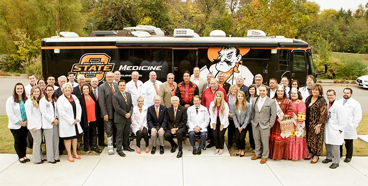 OSU's President Burns Hargis with the Cherokee Nation