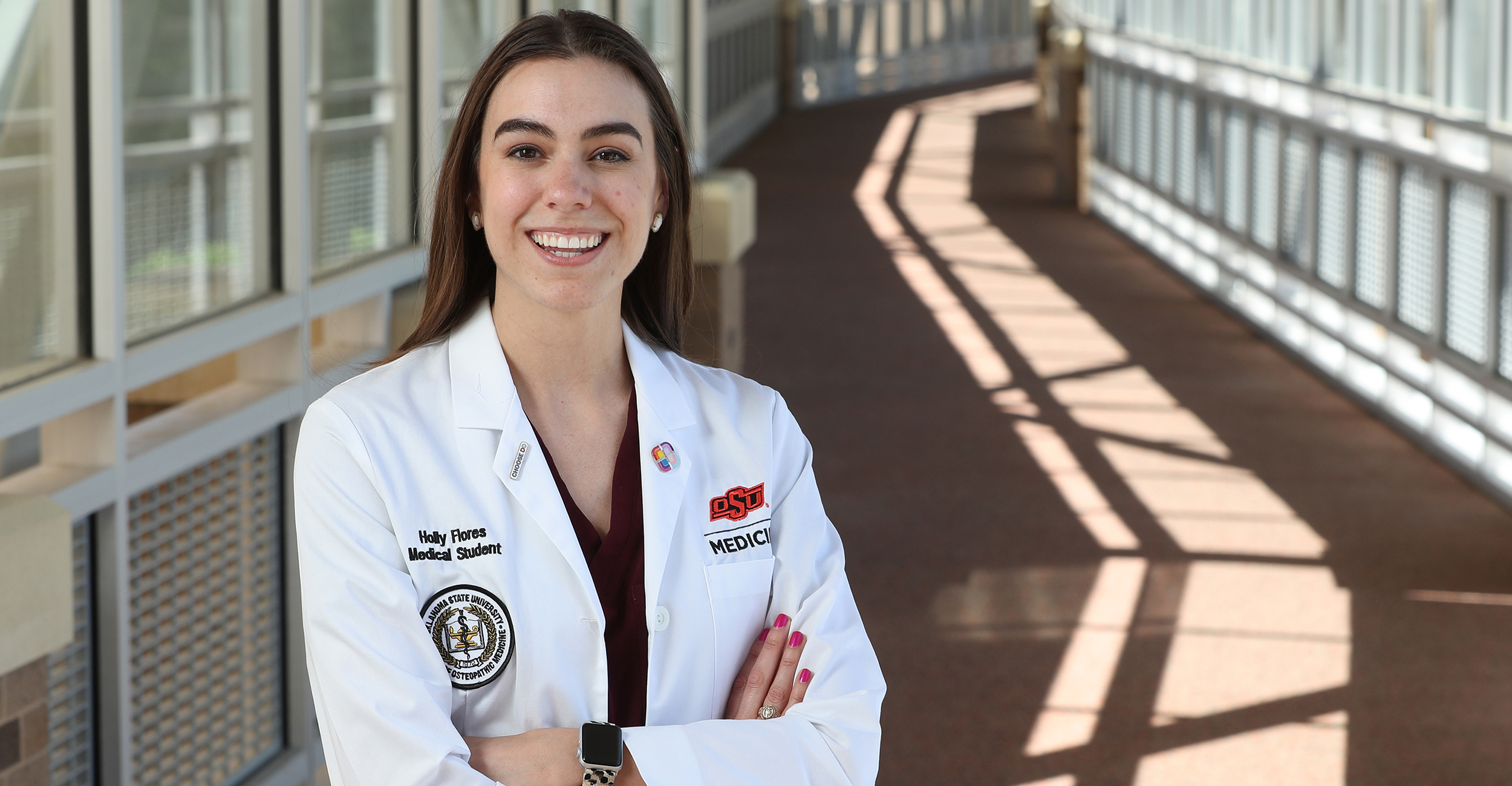Holly Flores, a third year medical student at OSU College of Osteopathic Medicine, is one of only 10 med students in the country selected for the ElevateMeD Scholar program.