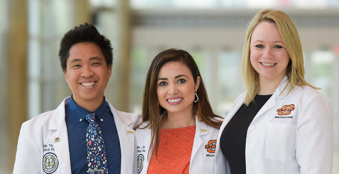 Three OSU-CHS doctors standing next to eachother