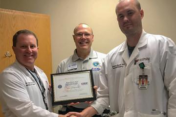 Brian Diener, D.O. receives Patriot Award