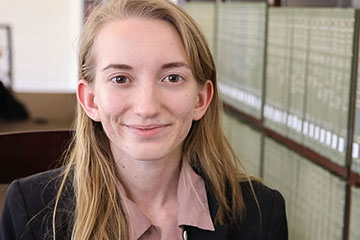 Molly Jackson Receives OSU's Undergraduate Library Research Award