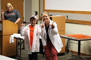 Grandparent University Visits Veterinary Center