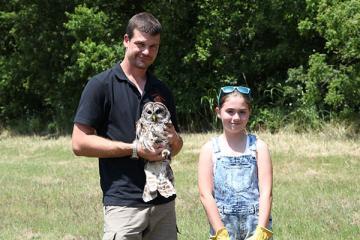 Releasing Nora the Owl
