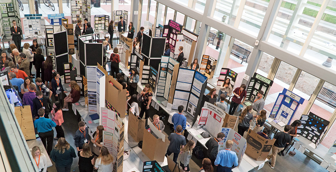 Participants at the 2019 Oklahoma State Science and Engineering Fair