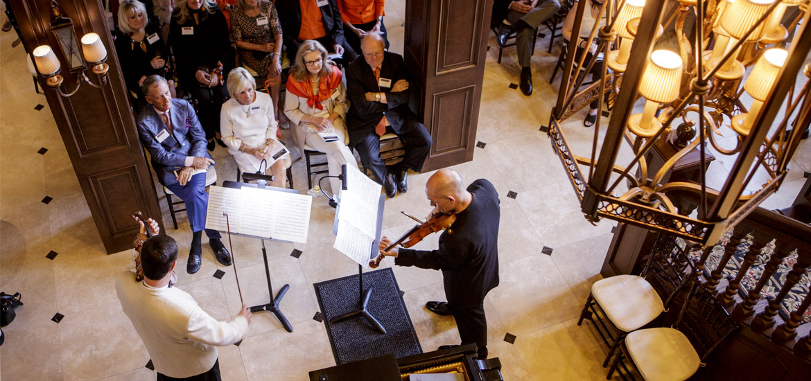 Musician performing at the Chamber Music Festival