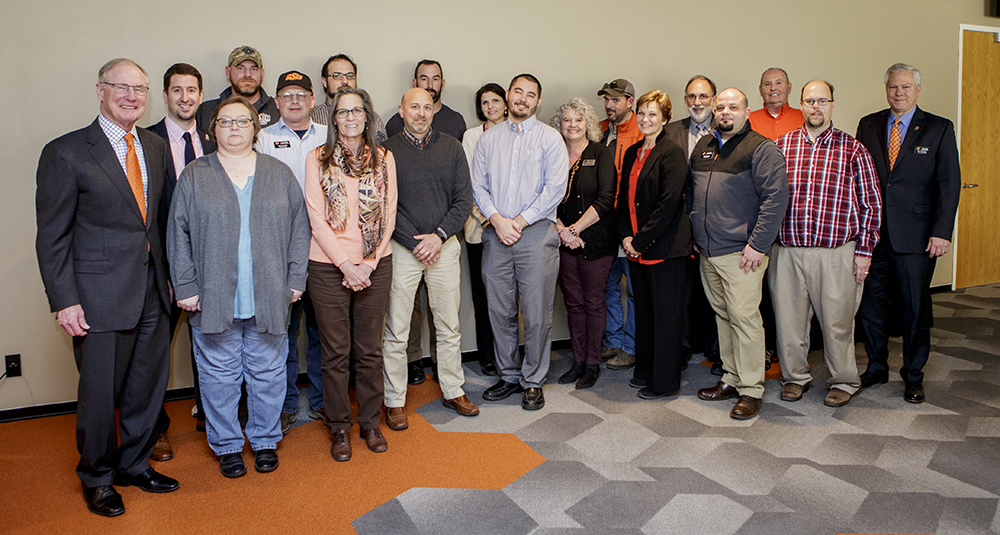 Twenty OSU employees and the Wes Watkins Center have been recognized for contributing to the success of OSU's Energy Management program