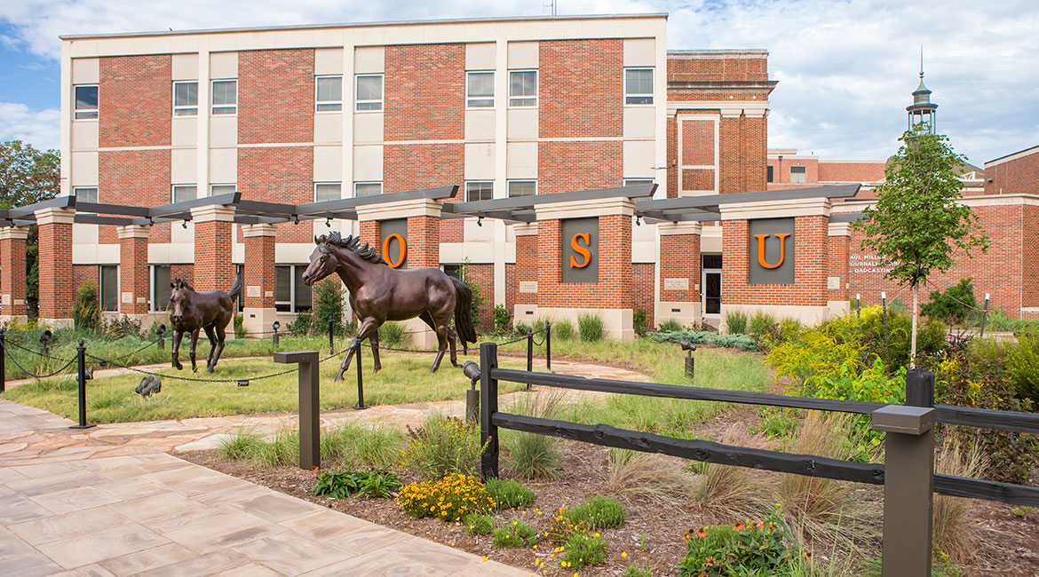Welcome Plaza with bronze horses Proud and Immortal