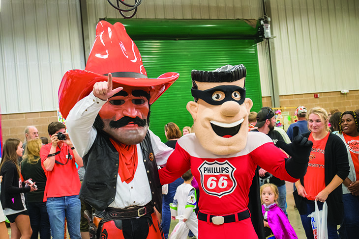 pistol pete and phillips 66 mascot