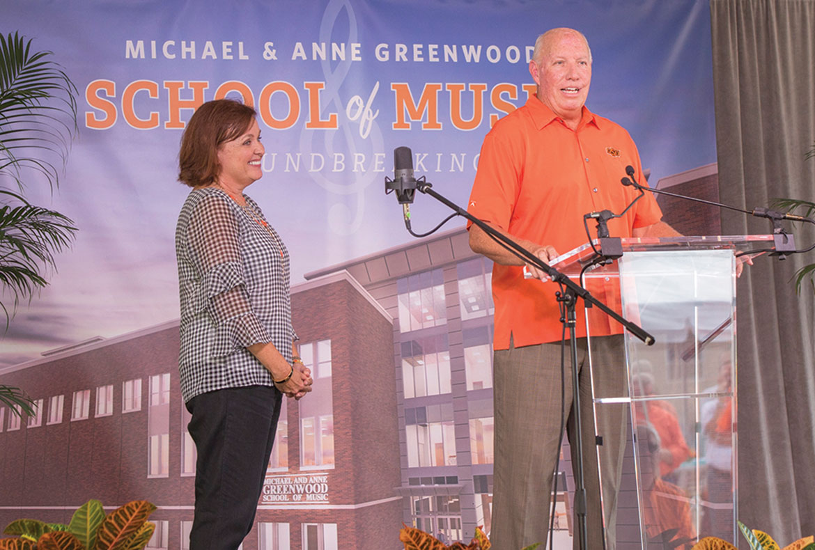 Michael and Anne Greenwood at the groundbreaking.