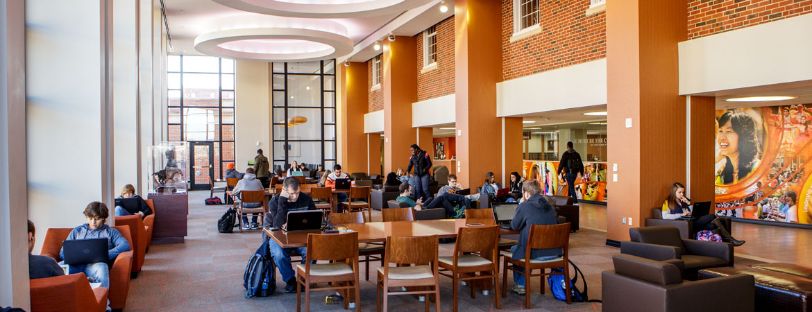 Students study in the OSU Student Union