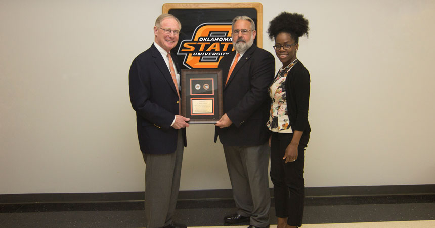First OSU Challenge Coin presented to recognize support for