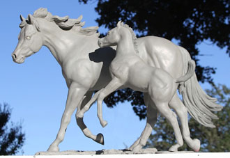 Artist's Concept of Horse Sculpture