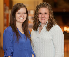 OSU scholars Keely Redhage and Amanda Mathias have been selected to participate in an international research program that will allow them to work with globally-recognized experts.