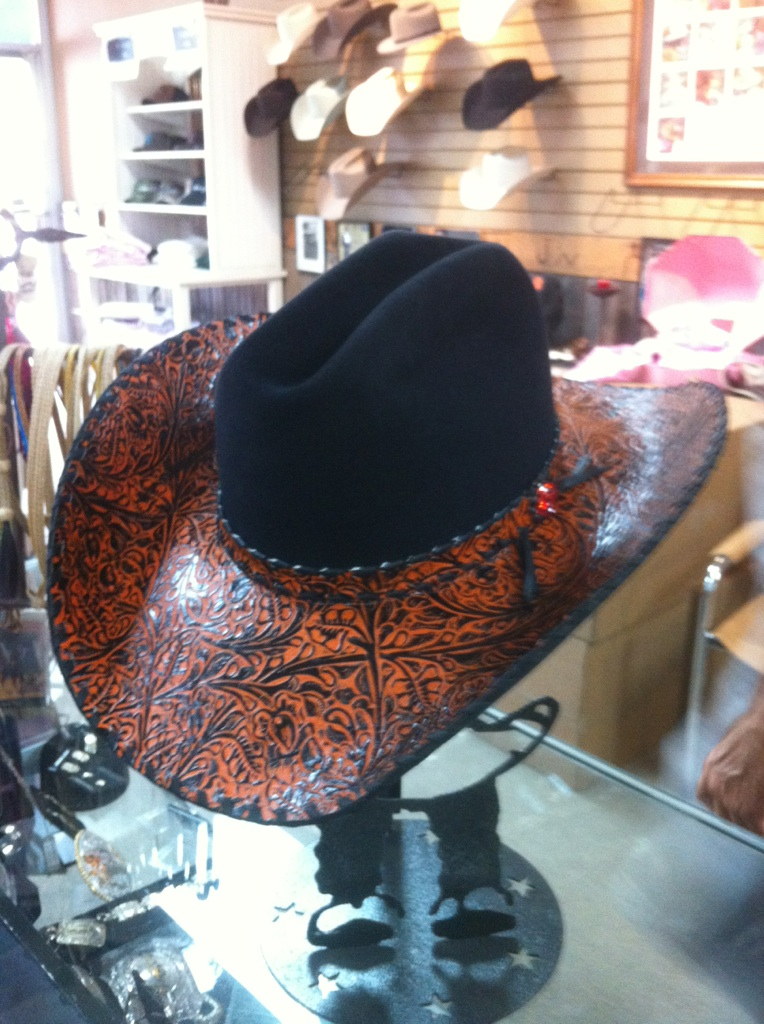 Shorty s Caboy Hattery presents Oklahoma State University s First Lady with  signature hat 0eb3611a85c