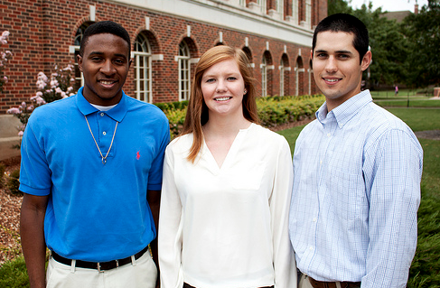 Three Oklahoma State University, (L-R) Jordan Knight, Kayla Davis and Kody Jones, students have been selected to receive honors at the 2012 Women of Color Science, Technology, Engineering and Mathematics Conference hosted by Career Communications Group Magazine.