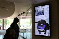 Digital art in motion at Oklahoma State University Student Union