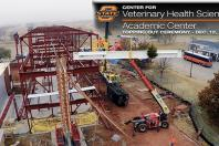 Veterinary Medical Hospital construction reaches milestone